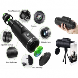 China 40X60 high-definition mini night vision prism monocular telescope with mobile phone clip tripod   40X60 high-definition mini night vision prism monocular telescope with mobile phone clip tripod   company
